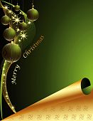 pic of welts  - Merry Christmas background made of gold and green decorations - JPG