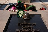 stock photo of novosibirsk  - the Grave of the unknown soldier in novosibirsk - JPG