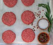 stock photo of beef-burger  - Cooking of burgers from beef - JPG
