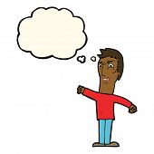 foto of annoyance  - cartoon annoyed man with thought bubble - JPG