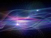 stock photo of sine wave  - Light Waves series - JPG