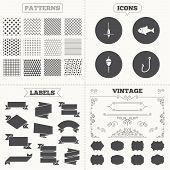 stock photo of hook  - Seamless patterns - JPG