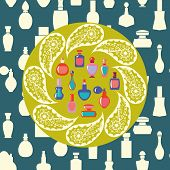 foto of perfume bottles  - Vector of bottle icon collection vector background silhouette Perfume Bottles Simple shapes were used - JPG