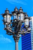 image of frankfurt am main  - Old fashioned lantern in front of the Alte Oper in Frankfurt am Main - JPG