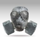 pic of gas mask  - Army Gas Mask Abstract Polygonal  - JPG