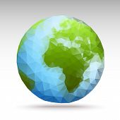 stock photo of fantasy world  - Vector Polygon World Spheres  - JPG