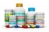 stock photo of pharmaceuticals  - Group of health care medical supplies  - JPG