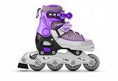 stock photo of roller-skating  - 3d illustration roller skate isolated on white background - JPG