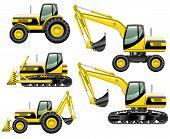 foto of construction machine  - Set of heavy construction machines - JPG
