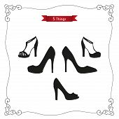image of platform shoes  - Set  - JPG