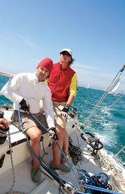 pic of boat  - Sailing on regatta with the sailing boat - JPG