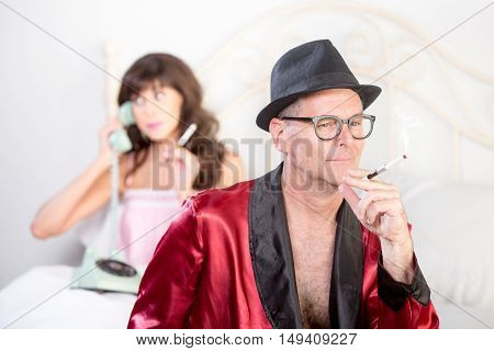 Playboy With Woman On The