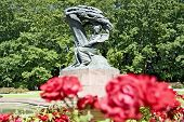 picture of chopin  - Summer park with monument of Chopin  - JPG