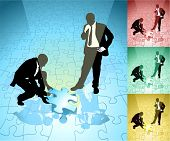 stock photo of person silhouette  - 