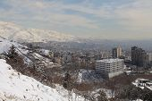 foto of tehran  - Northern area of Tehran city in winter - JPG