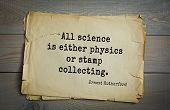 Постер, плакат: TOP 5 Aphorism by Ernest Rutherford 1871 1937 British physicist father of nuclear physics