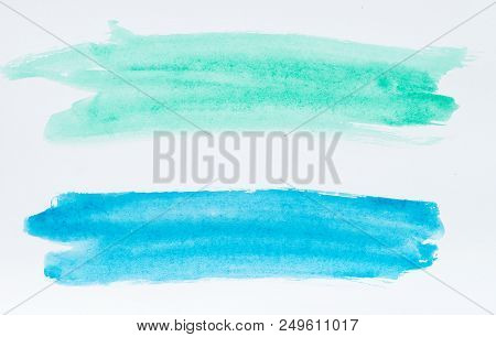 Set Of Watercolor Brush Strokes