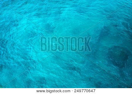 Bright Light Blue Sea Texture