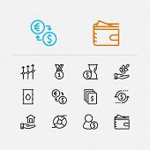 Economy Icons Set. Time Money And Economy Icons With Business Progress, Return On Investment And Ana poster
