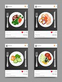 Dish Collection On Instagram, Post With Plate And Fork With Knife, Likes And Comments, Dishes On Ins poster