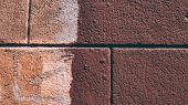 Cropped Shot Of A Facebrick Wall. The Wall. Old Brick Wall Background.wall Texture Grunge Background poster