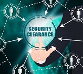 Security Clearance Cybersecurity Safety Pass 2D Illustration poster