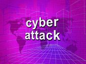 Cyberattack Malicious Cyber Hack Attack 3D Illustration poster