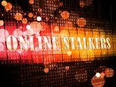 Online Stalker Evil Faceless Bully 3D Illustration poster