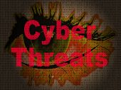 Cybersecurity Threats Cyber Crime Risk 2D Illustration poster