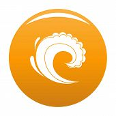Wave Water Surfing Icon. Simple Illustration Of Wave Water Surfing Vector Icon For Any Design Orange poster