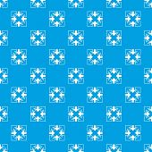 Full Screen And Exit Full Screen Arrows Pattern Vector Seamless Blue Repeat For Any Use poster