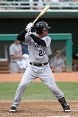MESA, AZ - NOVEMBER 4: Mesa Solar Sox outfielder Nolan Arenado waits for a pitch in a game against t