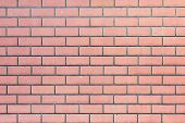 Wall Of Red Bricks. Blank Background With Masonry Texture. poster