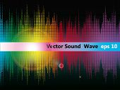 Vector equalizer abstracte Sound Wave. EPS 10.