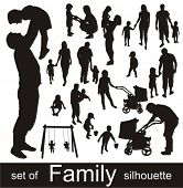 picture of silhouette  - Set of family silhouettes - JPG