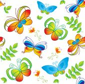 pic of blue butterfly  - Colorful background with butterfly - JPG