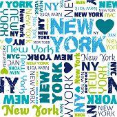 Постер, плакат: Я люблю типографии бесшовных фоновый узор мой Нью Йорк в векторе