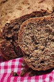 Homemade Bread Made With Whole-wheat Flour, Whole Rye Flour, Buckwheat And Hemp Flour, Sunflower See poster