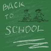 Back To School Hand Drawn In Vector Illustration Eps10.  Can Be Used For Banner, Poster, Advert, Bac poster