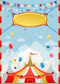 foto of stratus  - Circus poster with space for text - JPG