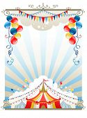 image of circus tent  - Circus background with space for text - JPG