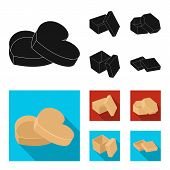 Box, Container, Package, And Other  Icon In Black, Flat Style.case, Shell, Framework Icons In Set Co poster