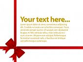 image of text-box  - red satin ribbon with gold text - JPG
