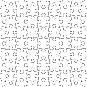 stock photo of game_over  - Vector Seamless Transparent Puzzle Pattern  - JPG