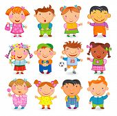 pic of people icon  - 12  KIDS different nations - JPG
