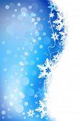 Постер, плакат: Зимний праздник снежинка фон