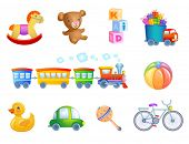stock photo of maracas  - Set of 10 vector toys for kif - JPG
