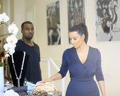WEST HOLLYWOOD - JUL 13: Kim Kardashian, Kanye West at the opening of the new Dash store on July 13,