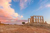 image of poseidon  - Ruins of Poseidon temple - JPG