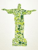Brazil Go Green Concept Illustration